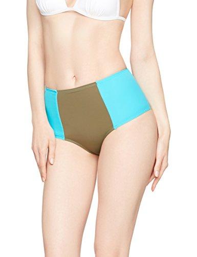 Iris & Lilly Damen Bikini-Hipster mit hohem Bund Grün Small