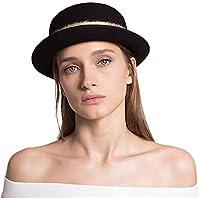 Ying xinguang Sombrero de Copa de Lana Cúpula Retro británica Sombrero  cálido Sombrero Negro Sombrero Rojo e1645b5936b