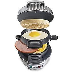 SODIAL éLectrique Fabricant de Sandwich D'Oeuf Plaques de Cuisson à Panini pour -Grillades Grille-Pain Multifonction Non-Baton Hamburger Breakfast Machine Prise EuropéEnne