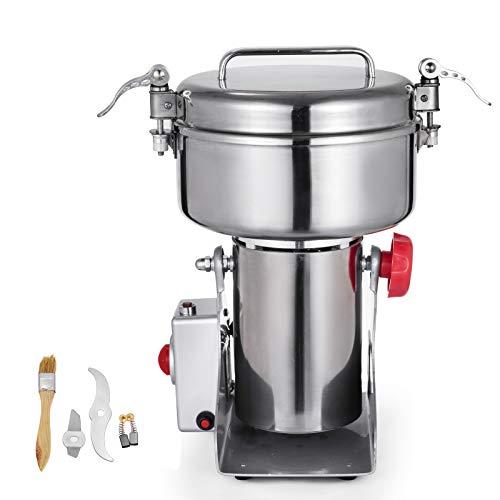Husuper 1000G Elektrisch Edelstahl Kräutermühle Maschine Universal Mühlen Weizen Getreide Profi Premiume Lebensmittel Stufe Zerkleinerer für Satz Kaffee Nüsse Gewürze usw