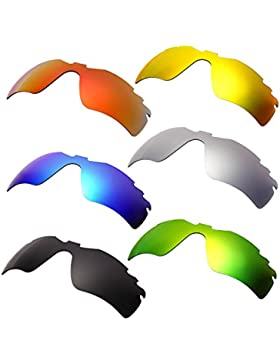 Hkuco Plus Mens Replacement Lenses For Oakley RadarLock-Edge Red/Blue/Black/24K Gold/Titanium/Emerald Green Sunglasses