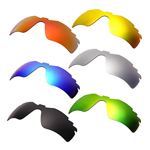 HKUCO Plus Mens Replacement Lenses For Oakley Radar Path-Vented Red/Blue/Black/24K Gold/Titanium/Emerald Green Sunglasses