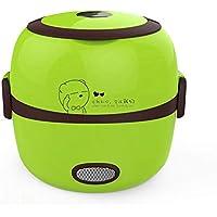 LOMYEN Mini Aislamiento Portátil Del Vapor De La Cocción Que Calienta La Comida Multifuncional Del Almuerzo Del Arroz, Verde