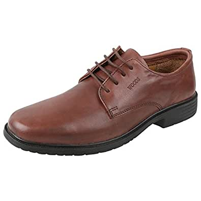 Woods Brown Formal Leather Shoes For Men (Size : 41 Euro)