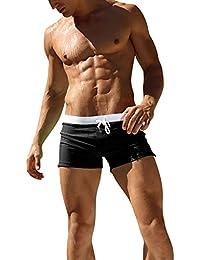 Dolamen Bañador de Natación Boxer para Hombre, 2018 Hombre Bañador Traje de Baño Pantalones Cortos Playa Piscina, Con cordón ajustable dentro & Cremallera Bolsillos