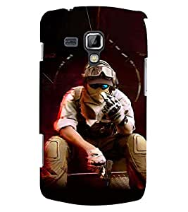 PRINTSWAG SHOOTER MAN Designer Back Cover Case for SAMSUNG GALAXY S DUOS 2 S7582