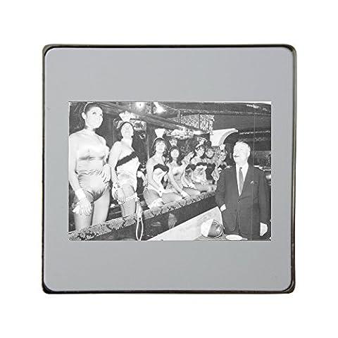 Playboy bunnies. metal square fridge magnet