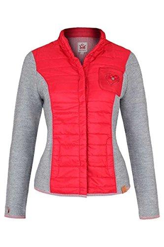 Damen Spieth & Wensky Trachten Steppjacke rot grau, rot/grau, S