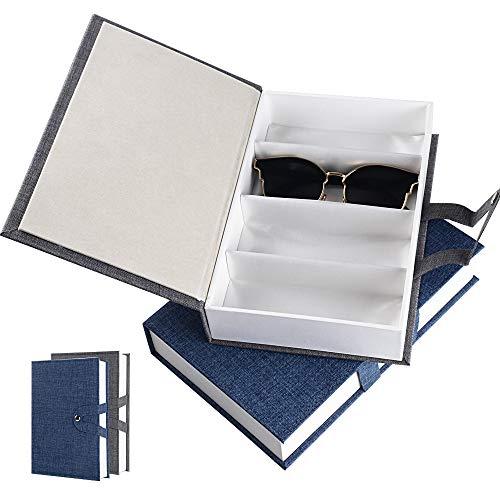BUONDAC 2 STK Brillenbox für 8 Brillen Sonnenbrillen Aufbewahrung Brillenorganizer mehrere Brillen Organizer Brillenkoffer Aufbewahrungsbox Brillenaufbewahrung Koffer