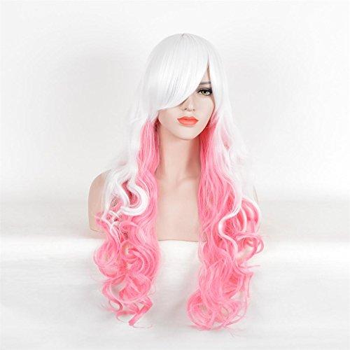 AN-LKYIQI Aspetto unico ed elegante parrucche veri capelli, bellezza naturale e femminile Il colore rende la pelle luminosa e ti rende elegante e affascinante Abbastanza confortevole da indossare ogni giorno e