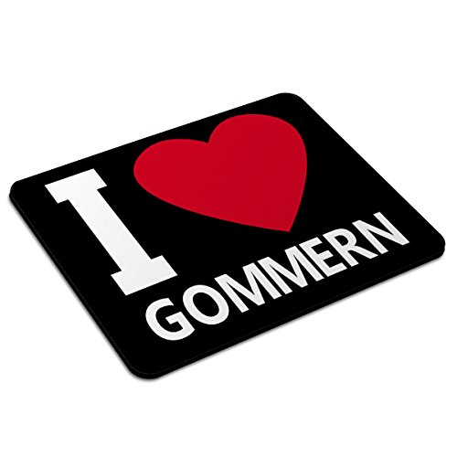 Mousepad Gommern personalisiert - Motiv I Love - Städtemousepad, personalisiertes Mauspad, Gaming-Pad, Maus-Unterlage, Mausmatte