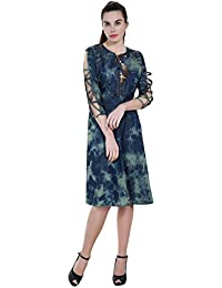 FRANCLO Women's Knee length dress (Best fit 36-38 bust)