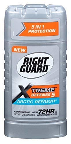 Total Defense Power Stripe Invisible Solid Arctic Refresh Antiperspirant Deodorant by Right Guard for Unisex - 2.6 oz Deodorant Stick by Right Guard
