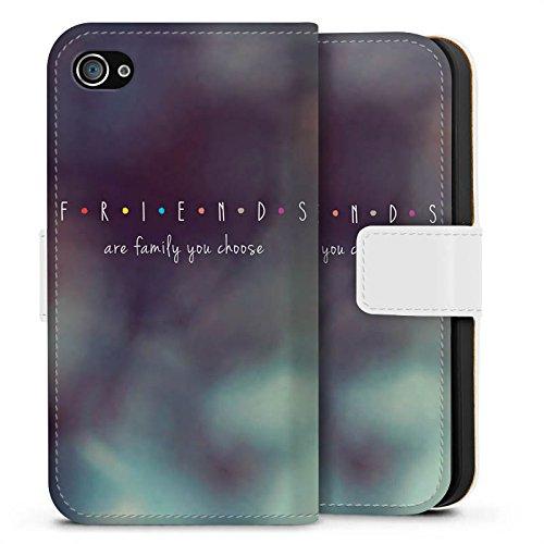 Apple iPhone X Silikon Hülle Case Schutzhülle Friends Freunde Familie Sideflip Tasche weiß