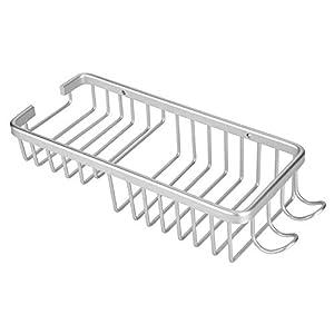 Estante del Cuarto de Baño Ducha Caddy Organizador Rack de Almacenamiento de Aleación de Aluminio Montado En La Pared…