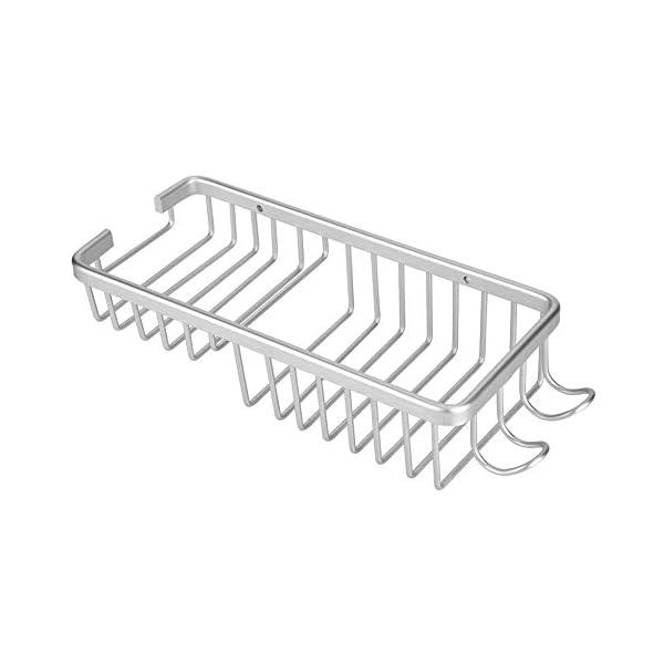 Estante del Cuarto de Baño Ducha Caddy Organizador Rack de Almacenamiento de Aleación de Aluminio Montado En La Pared Jabonera Titular de Plato para La Ducha Cuarto de Baño Bañera Fregadero
