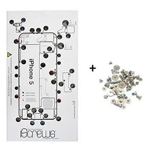BisLinks® iScrews Schraubenaufbewahrungsset für Apple iPhone 5, vollständiges Schraubenset