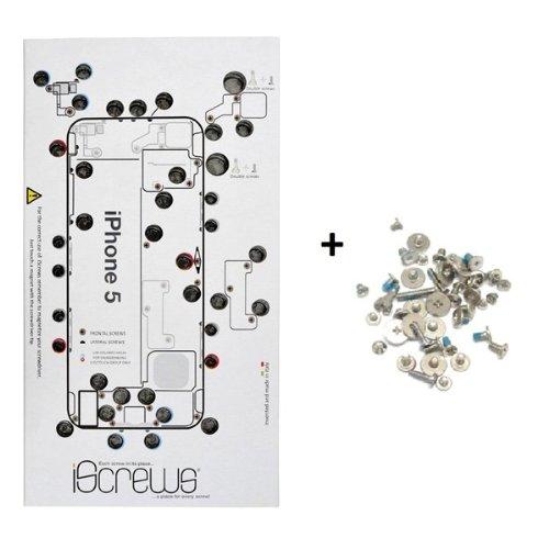 BisLinks® iScrews Schraubenaufbewahrungsset für Apple iPhone 5, vollständiges - 4 Iphone Mat Schraube