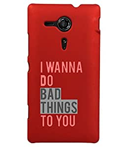 KolorEdge Back Cover For Sony Xperia SP - Red (2053-Ke15112XperiaSPRed3D)