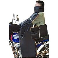 Motorcycle windproof quilt Colcha a Prueba de Viento de la Motocicleta, Cubierta anticongelante, Equipo de conducción para Mantenerse Caliente en Invierno, Lona Color Negro