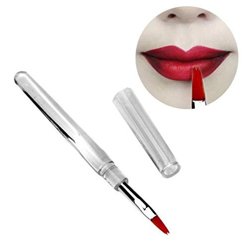 Dégagement!!!,❤️ ♬♬ ❤️ LMMVP 1PCS Pinceaux de Maquillage Haute Société Portable Flexible Outil de Brosse à Lèvres (1pc, Blanc)