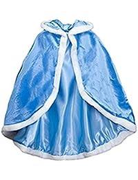 Labellevie Capa Disfraces de Princesa Costume para Niñas Disfraces para Halloween Azul 150cm