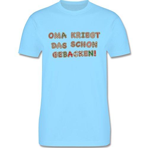 Weihnachten & Silvester - Oma kriegt das schon gebacken! - Herren Premium T-Shirt Hellblau