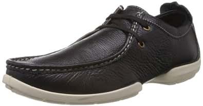 Woodland Men's Black Softy Leather Sneakers - 6 UK/India (40 EU)