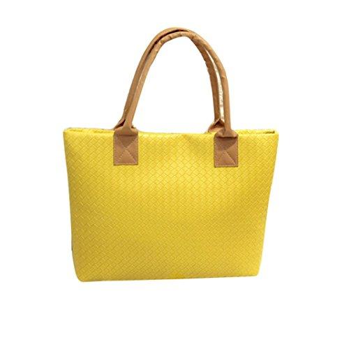 Transer PU leather Handbags & Single Shoulder Bags Women Zipper Bag Girls Hand Bag, Borsa a spalla donna multicolore Gold 43cm(L)*29(H)*9cm(W), Red (multicolore) - ZLY60831792 Yellow