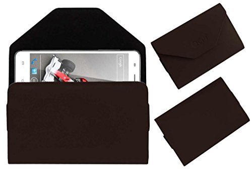 Acm Premium Pouch Case For Xolo Q3000 Flip Flap Cover Holder Brown  available at amazon for Rs.329