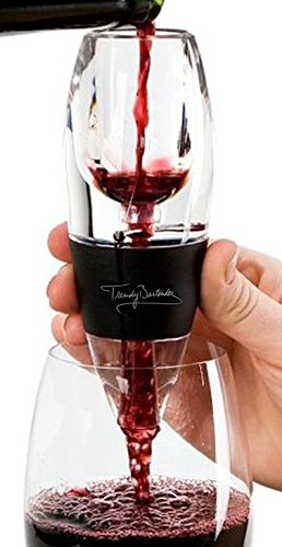 Winebelüfter - Premium Wine Aerator Decanter by Trendy Bartender? - FDA Quality Acrylic With Sediment Filter, Stand and Travel Pouch
