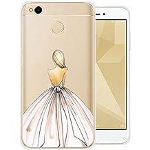 """Funda para Xiaomi Redmi 4X , IJIA Ultrafino Transparente Vestido Cenicienta TPU Silicona Suave Cover Tapa Caso Parachoques Carcasa Cubierta para Xiaomi Redmi 4X (5.0"""") (WM18)"""
