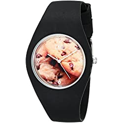 TKO Cool Black Rubber Fun Cookie Dial Watch For Teens TK655BK