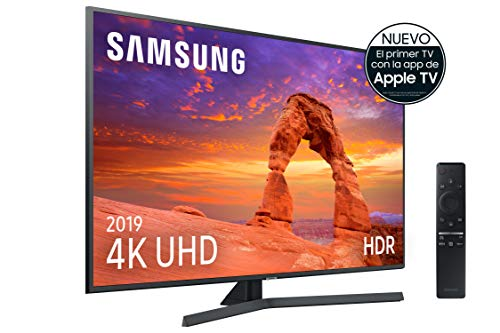 "Samsung 4K UHD 2019 43RU7405 - Smart TV de 43"" con Resolución 4K UHD, Ultra Dimming, HDR (HDR10+), Procesador 4K, One Remote Control, Apple TV y compatible con Alexa"