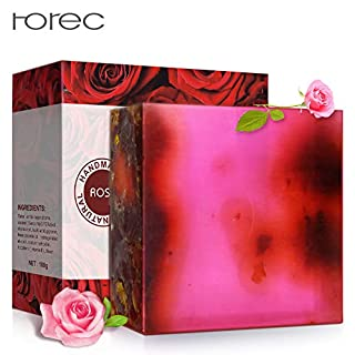 APRITECH® Organic Rose Essential Oils Soap Essential Oils Moisturizing Body Soap For Skin And Face 100% Natural anti-pigmentation formula preventing pigmentation. (rose)