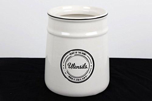 Cuore della casa Avorio Bianco e nero ceramica con coperchio set di utensili