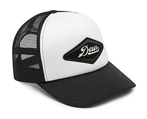 Deus Cap Diamond Trucker One Size Black White