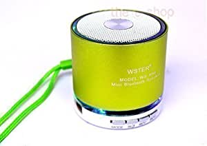 Mini Bluetooth Haut-parleur Speaker Sound Box Music Box Boombox Micro SD MP3 PC Téléphone Portable Tablette iPad Vert