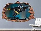 NYJNN Stickers murauxAutocollant mural Autocollants muraux Batman Action Weapon Broken Brick 3D Wall Sticker Vinyl Art Sticker