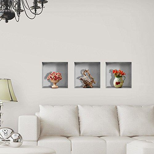 bluelover-wall-art-flower-vase-3d-equitazione-lattice-parete-stickers-pag-rimovibile-griglia-adesivi