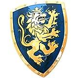 Liontouch - LT00113 - Bouclier de Chevalier Lion Doré - Taille Unique - Bleu