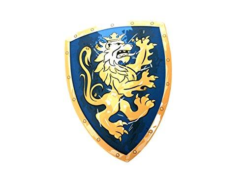 Liontouch-LT00113-Bouclier-de-Chevalier-Lion-Dor-Taille-Unique-Bleu