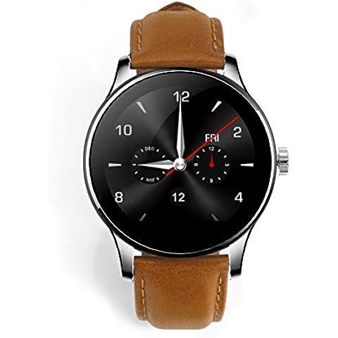 RG Bluetooth de cuero elegante reloj con de ejercicios para Android IOS, caja de regalo incluida