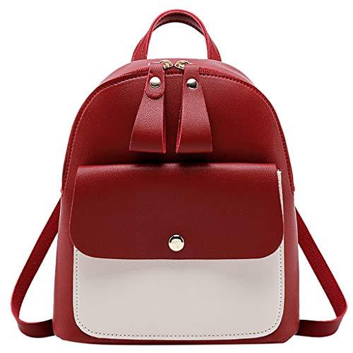 Damen Rucksack Handtaschen Weant Patchwork Schultaschen Anti-Diebstahl Tagesrucksack Umhängetasche Handtasche Mädchen Schulrucksäcke Sporttasche Reiserucksack Backpack für Schule Reise Arbeit