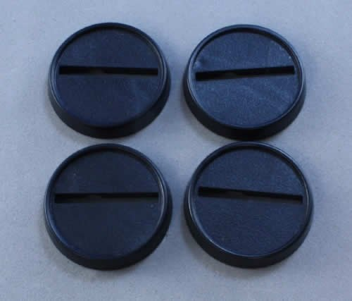 1in Round Plastic Miniature Gaming Base with Slot (Pack of 20) Reaper Miniatures by Reaper Miniatures