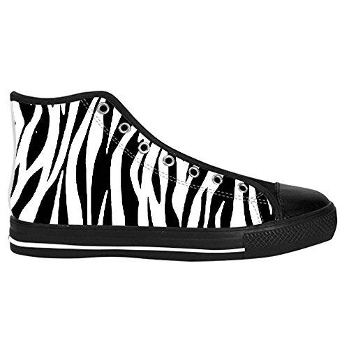 Dalliy zebra stripe Kids Canvas shoes Schuhe Lace-up High-top Footwear Sneakers B