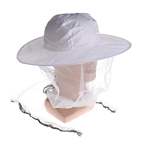 Jiamins Beekeeper Bee Hat Antimosquitos Bee Bug Insect Fly Mask - Gorro con Red de Malla para la Cabeza, Protección para la Cara al Aire Libre, Pesca, Equipo de Camping