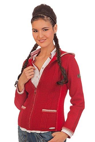 Damen Trachten Strickjacke - APOLDA - rot, denimblau, Größe L