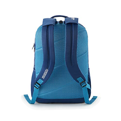 Best american tourister backpack in India 2020 American Tourister Turf 32 Ltrs Blue Casual Backpack (FF0 (0) 01 001) Image 3