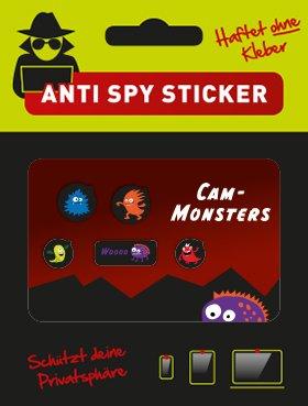 "CaMblock - Webcam Cover, OHNE Klebstoff, 5er Set Typ ""Cam-Monsters"", Webcam Abdeckung, Webcam Sticker"